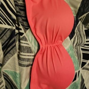 Neon pink bathing suit top